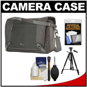 Lowepro Nova Sport 35L AW Digital SLR Camera Bag/Case (Slate Grey) with Tripod + Accessory Kit
