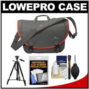Lowepro Passport Messenger Digital SLR Camera Bag/Case (Grey) with Tripod + Accessory Kit
