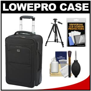 Lowepro Pro Roller x200 AW Digital SLR Camera Bag/Backpack Case with Wheels (Black) with Tripod + Accessory Kit