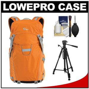 Lowepro Photo Sport 200 AW Digital SLR Camera Backpack Case (Orange) with Photo/Video Tripod + Accessory Kit
