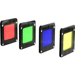 Lume Cube RBGY Color Gel Pack for Light-House includes Red Green Blue and Yellow Magnetic Gels