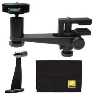 Makaw Video Perch Camera Mount Clamp with Ballhead and Quick Release with Binoculars Tripod Adapter and Cleaning Cloth