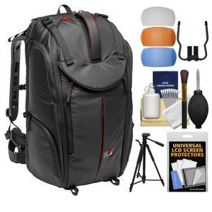 Manfrotto Pro Light Pro-V-610 PL DSLR Video Camera Backpack with 58 inch Tripod + DSLR Diffusers and Cleaning Kit