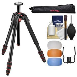 Manfrotto 190 GO. 4-Section Aluminum Tripod with Twist Locks with Case + Diffuser Filter Set + Kit