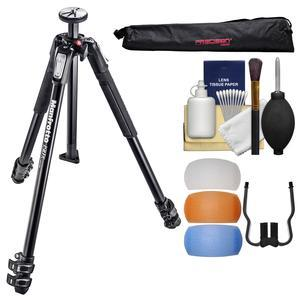 Manfrotto 190X 3-Section Aluminum Tripod with Case and Diffuser Filter Set and Kit