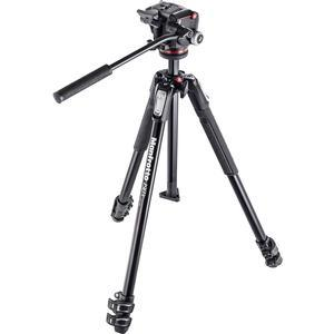 Manfrotto 190X 67 inch 3-Section Aluminum Video Tripod and MHXPRO-2W Fluid Head