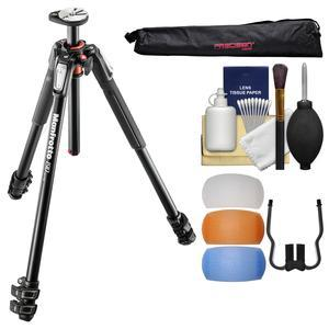 Manfrotto 190XPRO 3-Section Aluminum Tripod with Case + Diffuser Filter Set + Kit