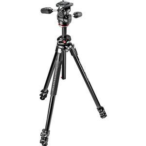 Manfrotto 290 Dual 69 inch Professional Tripod with 3-Way Head Kit