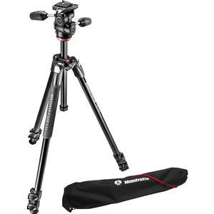 Manfrotto 290 Xtra 67.5 inch Professional Tripod with 3-Way Head and Case Kit