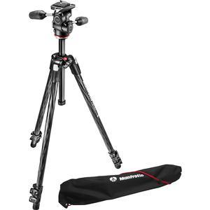 Manfrotto 290 Xtra 70 inch Carbon Professional Tripod with 3-Way Head and Case Kit