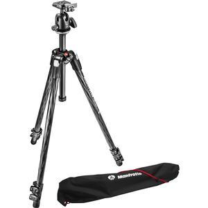 Manfrotto 290 Xtra 70 inch Carbon Professional Tripod with Ball Head and Case Kit