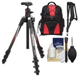 Manfrotto BeFree 55.9 inch Carbon Fiber Tripod with Ball Head and Case with Backpack + Sling Strap + Kit