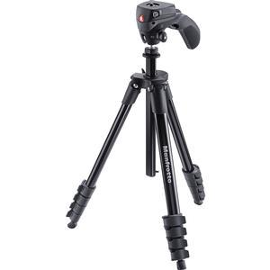 Manfrotto 61 inch Compact Action Aluminum Tripod and Joystick Head and Case - Black -