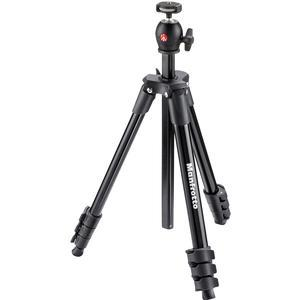 Manfrotto 51.6 inch Compact Light Aluminum Tripod and Ball Head with Case - Black -