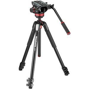 Manfrotto 055 Series 72 inch 3-Section Aluminum Tripod with MVH502AH Video Head