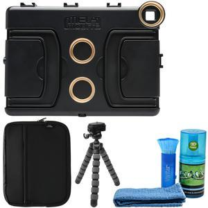 Melamount MM-IPADAIR2 Video Stabilizer Pro Multimedia Rig for Apple iPad Air 2 with Case and Tripod and Cleaning Kit