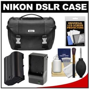 Nikon Deluxe Digital SLR Camera Case - Gadget Bag with EN-EL15 Battery + Charger + Accessory Kit