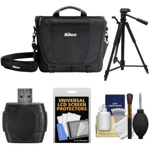 Nikon 17007 DSLR Camera Courier Bag with Tripod + Kit