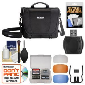 Nikon 17007 DSLR Camera Courier Bag with Diffuser Filter Set + Kit