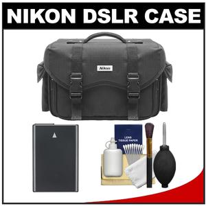 Nikon 5874 Digital SLR Camera Case - Gadget Bag with EN-EL14 Battery + Cleaning Kit