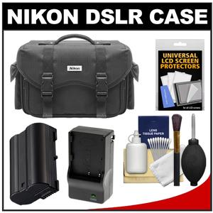 Nikon 5874 Digital SLR Camera Case - Gadget Bag with EN-EL15 Battery + Charger + Accessory Kit