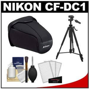 Nikon CF-DC1 Semi-Soft Holster Digital SLR Camera Case for D40, D60, D3000 & D3100 with Tripod + Cleaning Accessory Kit