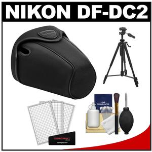 Nikon CF-DC2 Semi-Soft Holster Digital SLR Camera Case for D5000 & D5100 with Tripod + Cleaning Accessory Kit