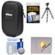 Nikon Coolpix Nylon Digital Camera Carrying Case with Flex Tripod + Cleaning Kit