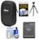 Nikon Coolpix Nylon Digital Camera Carrying Case with EN-EL12 Battery + Flex Tripod + Accessory Kit