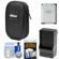 Nikon Coolpix Nylon Digital Camera Carrying Case with EN-EL19 Battery & Charger + Accessory Kit