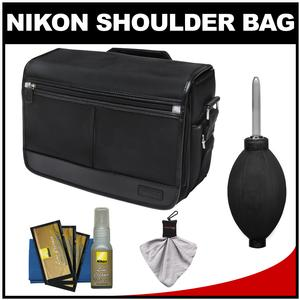Nikon DSLR Camera/Tablet Messenger Shoulder Bag with Nikon Cleaning Kit