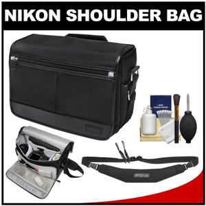 Nikon DSLR Camera/Tablet Messenger Shoulder Bag with Sling Strap + Kit