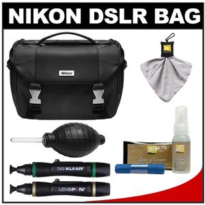 Nikon Deluxe Digital SLR Camera Case - Gadget Bag with Complete Nikon Cleaning Kit