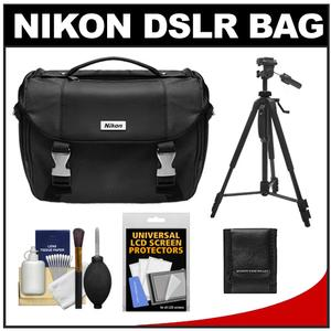 Nikon Deluxe Digital SLR Camera Case - Gadget Bag with 58 inch Tripod + Accessory Kit