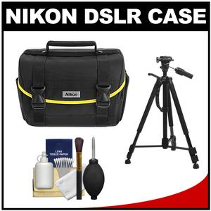 Nikon Starter Digital SLR Camera Case - Gadget Bag with Photo/Video Tripod