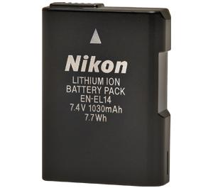 Nikon Lithium Ion Battery Pack En El14