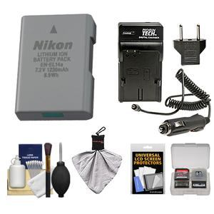 Get Nikon EN-EL14a Rechargeable Li-ion Battery with Charger + Kit for D3200 D3300 D3400 D5200 D5300 D5500 Df DSLR Camera Before Special Offer Ends