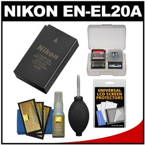 Nikon EN-EL20a Rechargeable Li-ion Battery with Nikon Cleaning Kit