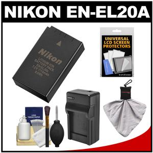 Nikon EN-EL20a Rechargeable Li-ion Battery with Charger + Accessory Kit