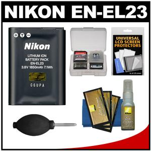 Nikon EN-EL23 Rechargeable Li-ion Battery with Nikon Cleaning Kit