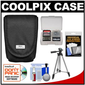 Nikon Coolpix 5879 Digital Camera Case with Tripod + LCD Screen Protectors + Accessory Kit
