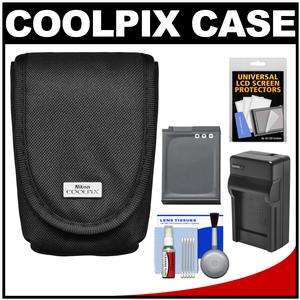 Nikon Coolpix 5879 Digital Camera Case with EN-EL12 Battery + Charger + Kit for AW110 AW120 P340 S31 S800C S9500 S9700