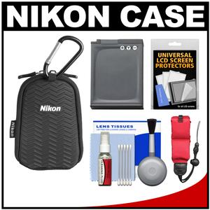 Nikon Coolpix All Weather Sport Digital Camera Case with EN-EL12 Battery + Float Strap + Kit for AW100 AW110 AW120