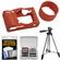 Nikon CF-N6000 Silicone Jacket Fitted Case for AW1 (Orange) with Tripod + Accessory Kit