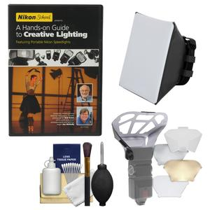 Nikon School - A Hands-on Guide to Creative Lighting DVD with Soft Box + Diffuser Bouncer + Kit
