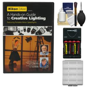 Nikon School - A Hands-on Guide to Creative Lighting DVD with - 4 - Batteries and Charger + Kit
