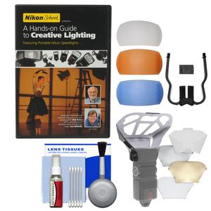 Nikon School - A Hands-on Guide to Creative Lighting DVD with Diffuser Filter Set + Diffuser Bouncer + Kit