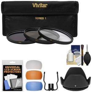 Essentials Bundle for Nikon 18-55mm f-3.5-5.6G DX AF-P VR Zoom-Nikkor Lens with 3 UV-CPL-ND8 Filters + Lens Hood + 3 Pop-Up Flash Diffusers + Kit