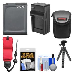 Essentials Bundle for Nikon Coolpix AW110 AW120 AW130 Digital Camera with EN-EL12 Battery and Charger and Case and Flex Tripod and Floating Strap and Kit
