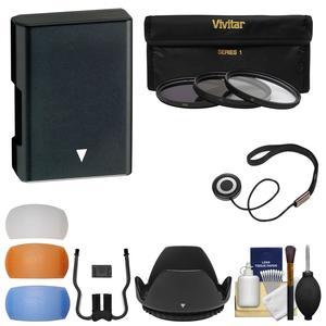 Essentials Bundle for Nikon D3200 D3300 D5200 D5300 D5500 Camera and 18-55mm VR Lens with EN-EL14 Battery + 3 UV-CPL-ND8 Filters + 4 Diffusers + Lens Hood + Kit